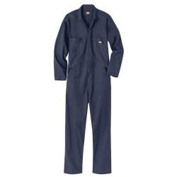 Basic Blended Long Sleeve Coverall - Long Sizes